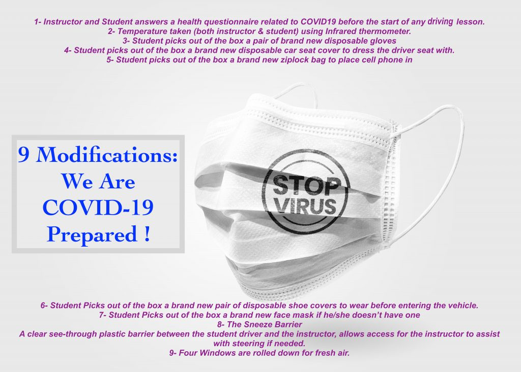 driving lessons covid 19 precautions